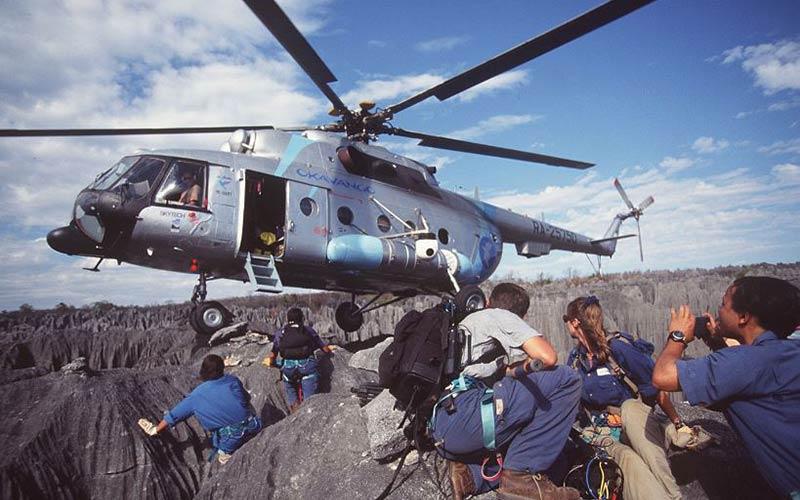 Hélicoptère de l'opération Okavango